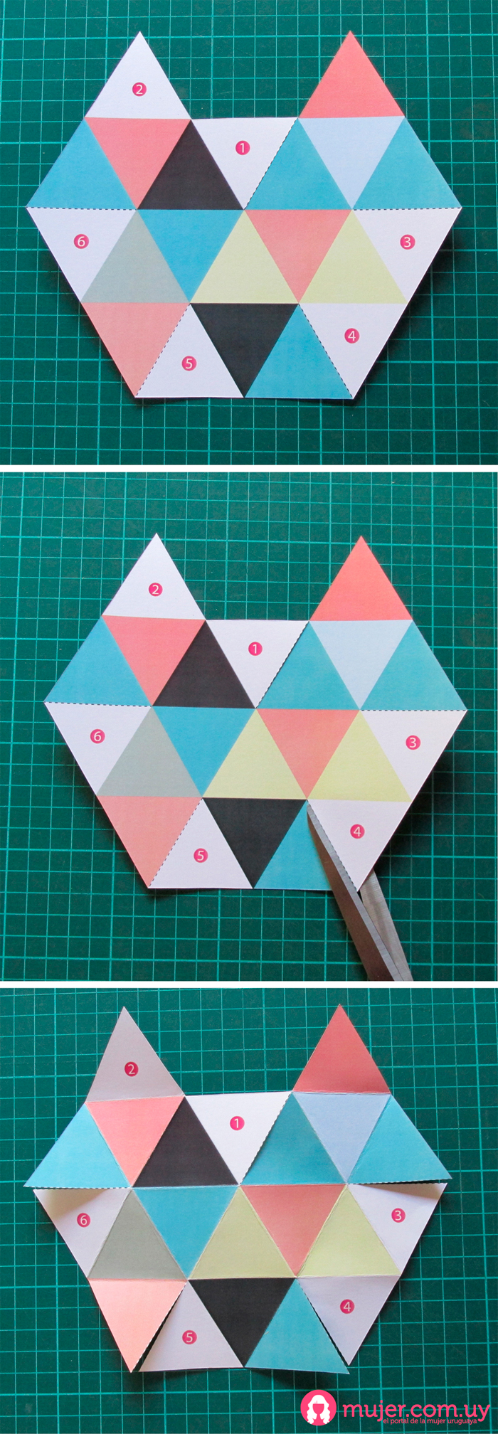 Origami: Geoide | Mujer.com.uy