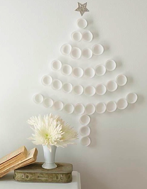 rbol de Navidad con tubo de PVC