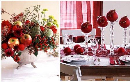 decoracin de la mesa de navidad