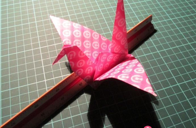 Origami: cómo hacer una grulla