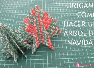 Origami: árbol de Navidad