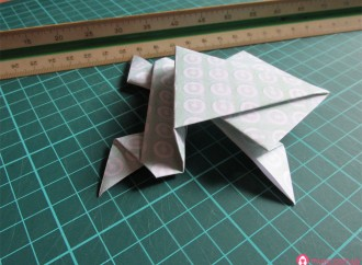 Origami: Sapo saltarín