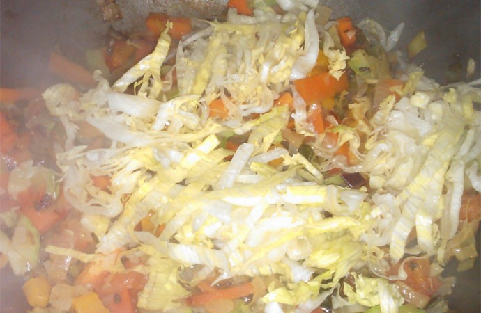 Lechuga| Verduras al wok